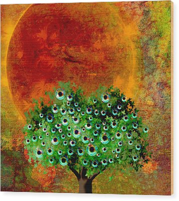 Eye Like Apples Wood Print by Ally  White