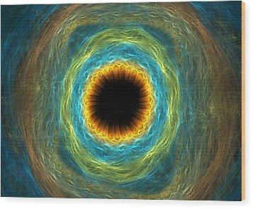 Eye Iris Wood Print by Martin Capek