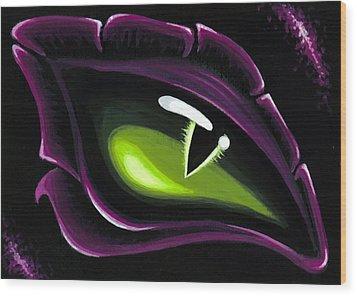 Eye Of Ena Wood Print by Elaina  Wagner