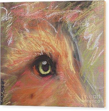 Eye Of Fox Wood Print by Michelle Wolff