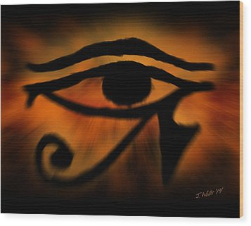 Eye Of Horus Eye Of Ra Wood Print