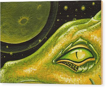 Eye Of Moon Crater Wood Print by Elaina  Wagner