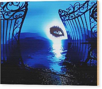 Wood Print featuring the digital art Eye Of The Beholder by Eddie Eastwood