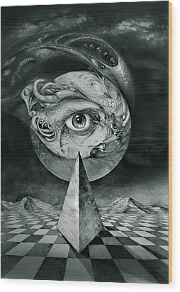 Eye Of The Dark Star Wood Print by Otto Rapp