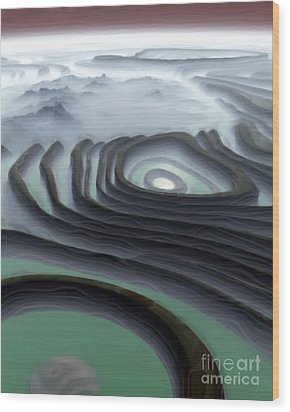 Eye Of The Minotaur Wood Print