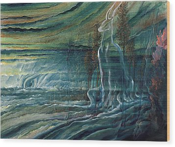 Eye Of The Storm Wood Print