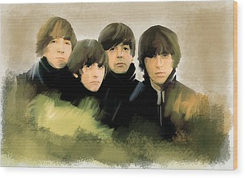 Eye Of The Storm The Beatles Wood Print by Iconic Images Art Gallery David Pucciarelli
