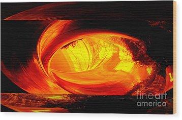 Eye Of The Tube Wood Print
