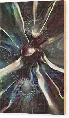 Eye Of The Universe Wood Print by Linda Sannuti