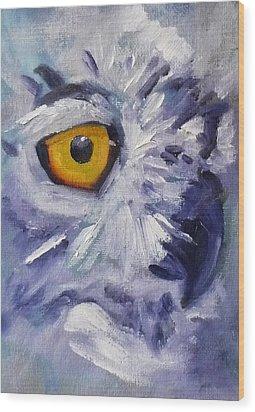 Eye On You Wood Print by Nancy Merkle