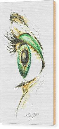 Eye Opener Wood Print