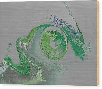 Eye Wood Print by Soumya Bouchachi