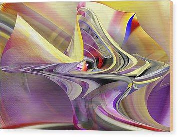 Eye Watcher - Abstract Art Wood Print by rd Erickson