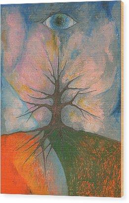 Eye Wood Print by Wojtek Kowalski