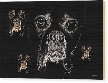 Eyes In The Dark Wood Print by Maria Urso