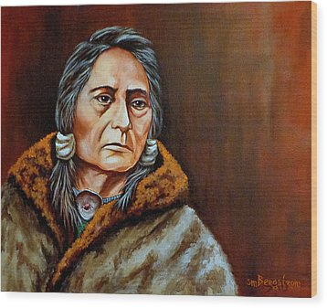 Eyes Of A Nation Wood Print by Susan Bergstrom