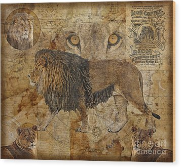 Eyes Of Africa Wood Print by Judy Wood