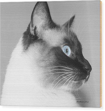 Eyes Of Blue Wood Print by Dick Botkin