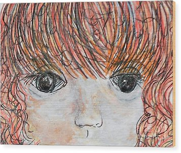 Eyes Of Innocence Wood Print by Eloise Schneider