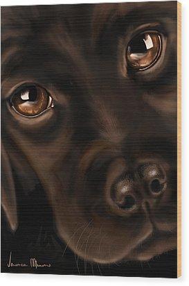 Eyes Wood Print by Veronica Minozzi
