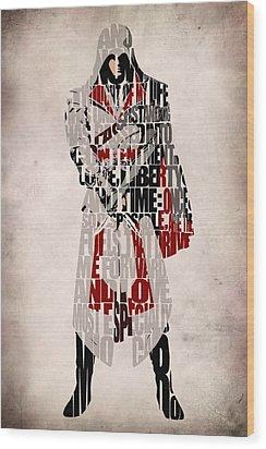 Ezio - Assassin's Creed Brotherhood Wood Print by Ayse Deniz