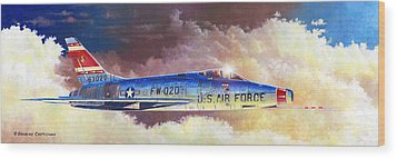 F-100d Super Sabre Wood Print