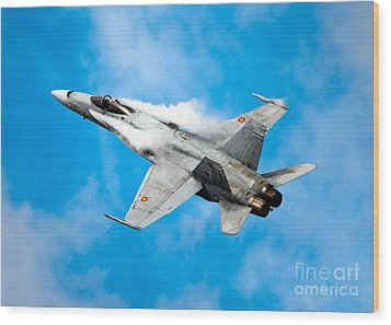 F-18 Fighter Wood Print