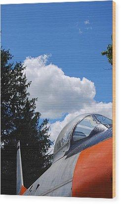 Wood Print featuring the photograph F-860 Saber Jet Interception by Ramona Whiteaker