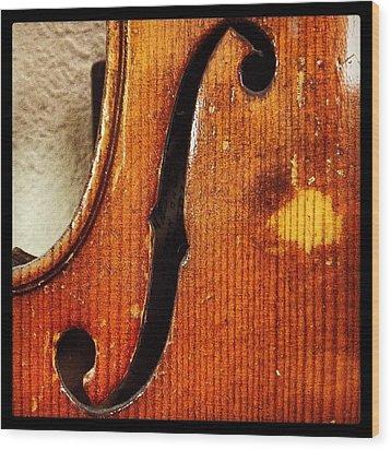 F-hole Wood Print