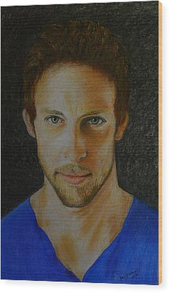 F1 Jenson Button Wood Print by David Hawkes