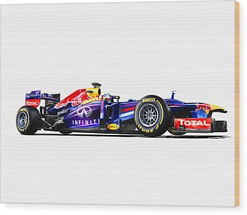 Wood Print featuring the photograph F1 Red Bull Rb9 by Gianfranco Weiss