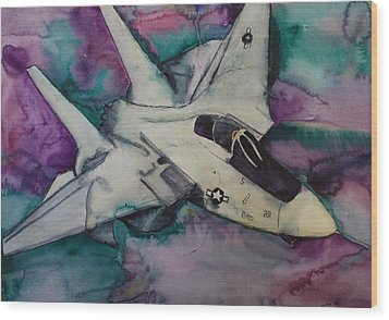 F14 Wood Print