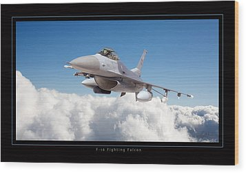 F16 Fighting Falcon Wood Print by Larry McManus