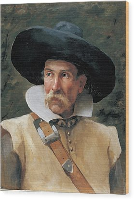 Fabbri Paolo Egisto, Portrait Of A Man Wood Print by Everett