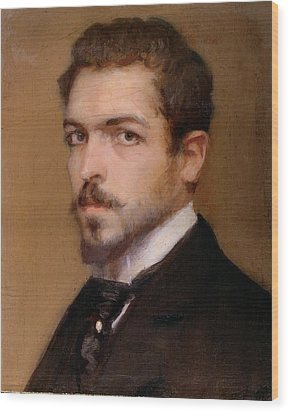 Fabbri Paolo Egisto, Self-portrait Wood Print by Everett