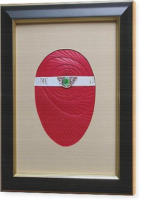 Wood Print featuring the mixed media Faberge Egg 1 by Ron Davidson