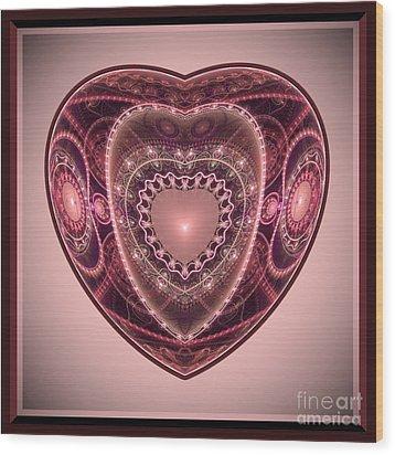Faberge Heart Wood Print
