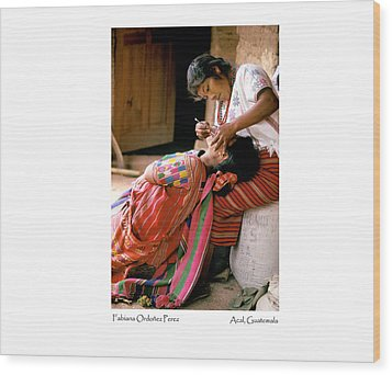 Wood Print featuring the photograph Fabiana Ordonez Perez by Tina Manley