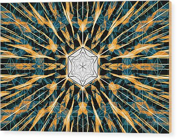Wood Print featuring the drawing Fabric Of The Universe by Derek Gedney