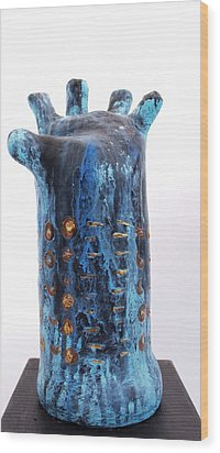 Fabulas Blue Hand  Wood Print by Mark M  Mellon