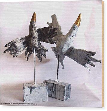 Fabulas Free Birds Wood Print by Mark M  Mellon