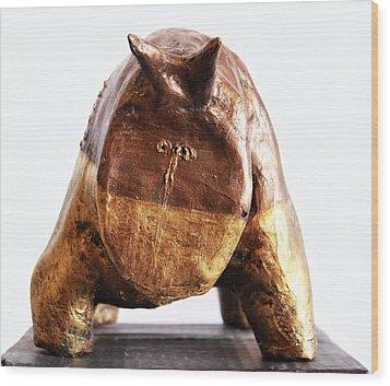 Fabulas Gold And Bronze Taurus  Wood Print by Mark M  Mellon