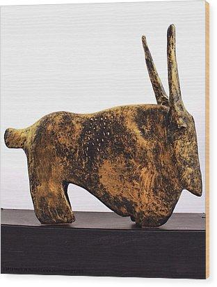 Fabulas Gold Taurus  Wood Print by Mark M  Mellon