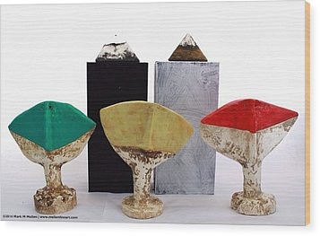 Fabulas Humanum Collectors Set Wood Print by Mark M  Mellon