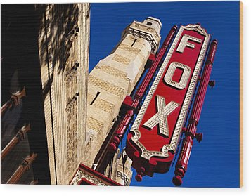 Fabulous Fox In Atlanta Wood Print
