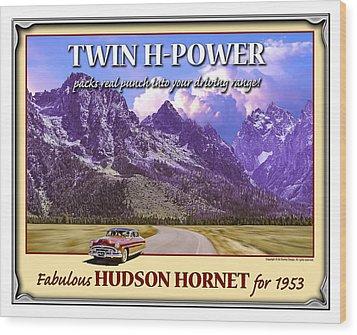 Fabulous Hudson Hornet For 1953 Wood Print