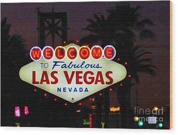 Fabulous Las Vegas Wood Print by John Malone