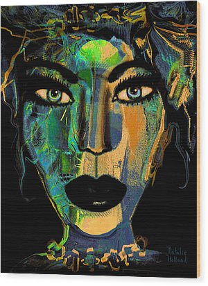 Face 16 Wood Print by Natalie Holland