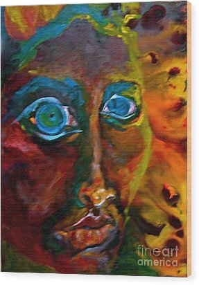 Face 6 Wood Print by Michelle Dommer