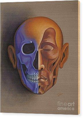 Face Anatomy Wood Print by Tish Wynne